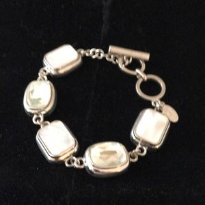 Faux mother of pearl bracelet